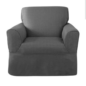 New Sure Fit Bayside Chair Slipcover Slate